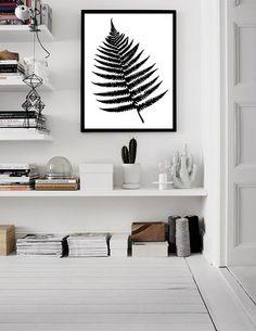 Fern print, Fern art