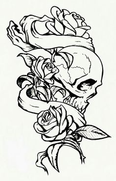 Tattoo needs dagger,heart to replace the head ,rose bud to replace the hand ,Born To Love on ribbon, dagger must have a curve at tip of blade Sketch Tattoo Design, Skull Tattoo Design, Tattoo Sketches, Tattoo Drawings, Tattoo Designs, Skull Rose Tattoos, Body Art Tattoos, Sleeve Tattoos, Rose Drawing Tattoo
