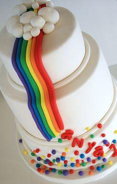 A pretty cake for a girl.