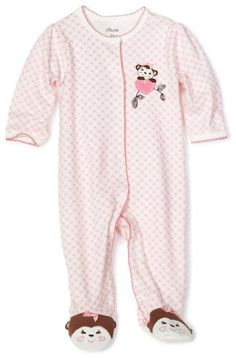 Amazon.com  Little Me Baby-girls Newborn Sweetie Monkey Footie  Clothing  Baby f845207ca