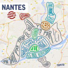 Top 15 des cartes de villes françaises version honnête, tout de suite c'est plus clair | carte_Nantes
