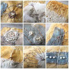 Winter Garden Tea Bag Art detail by Velvet Moth Studio