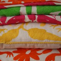 Otomi Embroidered Textiles Handmade in Mexico, Zinnia Folk Arts