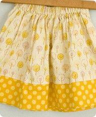 hickety pickety handmade's super easy no-hem skirt tutorial.