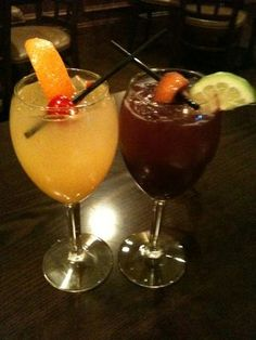 White and Red Sangria at Opa Greek Restaurant in Wayne NJ.  Photo by Vickie Siculiano