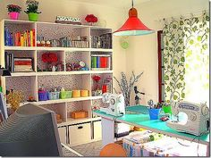 Trendy Home Studio Table Sewing Rooms Sewing Room Design, Craft Room Design, Sewing Spaces, My Sewing Room, Sewing Rooms, Design Room, Sewing Studio, Sewing Art, Craft Space