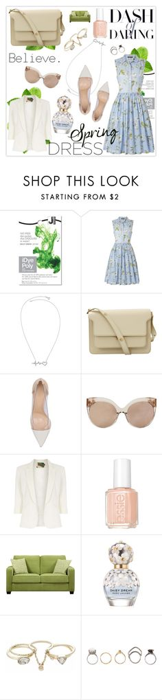 """There are only a few luxuries left in this generation; silence, solidarity and privacy."" by mars ❤ liked on Polyvore featuring French Connection, Marni, Gianvito Rossi, Linda Farrow, Jolie Moi, Essie, Portfolio, Marc Jacobs, Lipsy and Iosselliani"