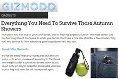 Davek in Gizmodo. Never be left unprepared again