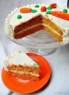 Con sabor a canela: Tarta de zanahoria y coco ( Carret coconut cake )