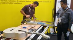 With the right tools (and professional tile fixers!) you can build a guitar with tiles.  Come to see Assoposa stand at Cersaie.  #MCaroundCersaie