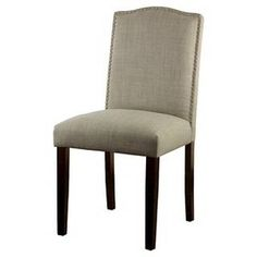 Make a stylish statement with the Threshold Camelot Nailhead Dining Chair. This armless chair adds an air of timeless luxury to your dining room table with its beautiful, textural upholstery and graceful yet stoic shape. Dining Chair Set, Dining Furniture, Dining Room Table, Table And Chairs, A Table, Desk Chair, Dining Rooms, House Furniture, Glass Table