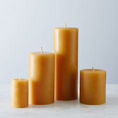 Round Beeswax Pillar Candles by Beehive Alchemy