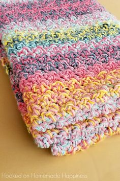 Color Kaleidoscope Crochet Blanket Pattern - So bright and beautiful! You can't go wrong no matter what colors your choose for this Color Kaleidoscope Crochet Blanket Pattern! Quick Crochet Blanket, Crochet Afghans, Crochet For Beginners Blanket, Crochet Patterns For Beginners, Free Crochet Blanket Patterns Easy, Easy Crochet Baby Blankets, Crochet Yarn, Crochet Tutorials, Crochet Stitches For Blankets