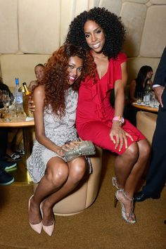 Jessica White and Kelly Rowland