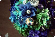 Felt Flowers.  Add a dash of buttons!?