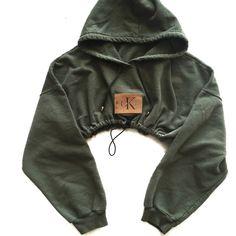 Reworked CK Patch Crop Hoody ($48) ❤ liked on Polyvore featuring tops, hoodies, hooded pullover, hoodie top, hoodie crop top, hooded sweatshirt and sweatshirt hoodies