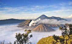 Núi lửa Bromo ở Đông Java, Indonesia