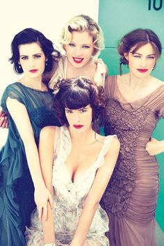 The ladies of Boardwalk Empire. All Very talented. Paz de la Huerta, Gretchen Mol, Aleksa Palladino and Kelly Macdonald.