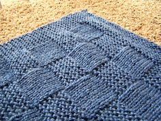 Little Bit of Life: FK: Basket Weave Baby Blanket / The Curse of the Baby Knitting