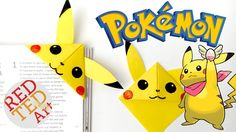 Easy Pikachu Bookmark Corner - Pokemon Go - Origami. As the Pokemon Go craze hits summer, it is time for our super duper cute and easy Pikachu Bookmark - a g...