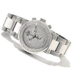 618-675 - Invicta Reserve Women's Ocean Reef Swiss Made Quartz 1.38ctw Diamond Chronograph Bracelet Watch
