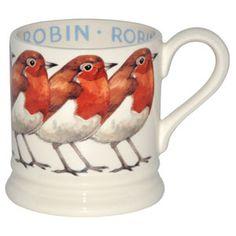 Emma Bridgewater Robin Bird 1/2 Pint Mug