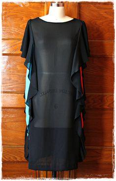 Vintage 1980s Avant Garde + Ruffle Dress