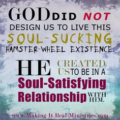 xref: http://www.blogos.org/christianlifeandgrowth/sabbath-rest.php - A day off is about us; the Sabbath is about our relationship with God.