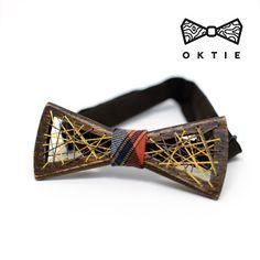 """OKTIE - wooden accessories: OKTIE Wood Bow Tie Original Series """"DoubleNet"""""""
