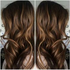 Brown hair with subtle honey/caramel highlights