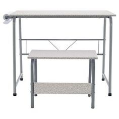 Offex Project Center, Kids Craft Table with Bench Gray - Gray Kids Craft Tables, Craft Desk, Craft Rooms, Projects For Kids, Design Projects, Project Table, Organize Fabric, Learn Art, Bench