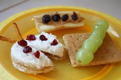 Little Page Turners: Edible Insects. The PB ladybug sandwich is very cute.