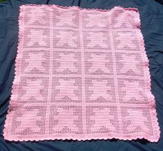 crochet animal baby blanket patterns | Filet Crochet Teddy Bear Baby Blanket by S... | Crocheting Ideas
