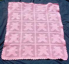 crochet animal baby blanket patterns   Filet Crochet Teddy Bear Baby Blanket by S...   Crocheting Ideas