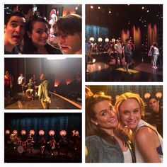 Glee cast during the 700th performance