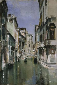 'Canal in Venice, San Trovaso Quarter' (ca.1885) by Robert Frederick Blum