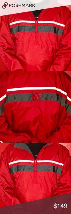 Nike jacket Nike Red beautiful wind breaker jacket Definitely a retro  jacket you want to collect Nike Jackets   Coats Performance Jackets ae67cc00c