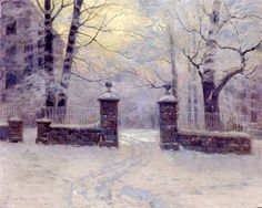 cathedral-gates-in-winter, Lovell Birge Harrison