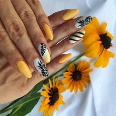 Yellow long pineapple nails with glitter - Nails Dream Nails, Love Nails, Pretty Nails, My Nails, Pineapple Nail Design, Pineapple Nails, Best Acrylic Nails, Summer Acrylic Nails, Summer Nails