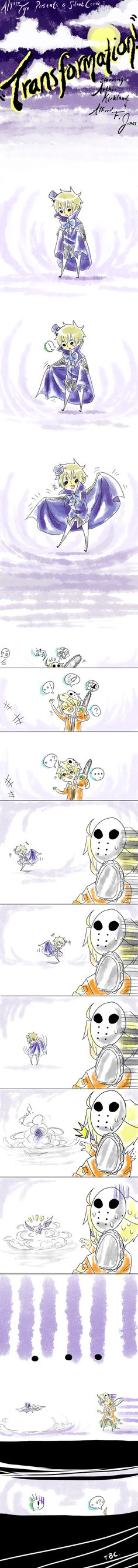 Cute USUK comic! Halloween themed.....a little early but oh well.
