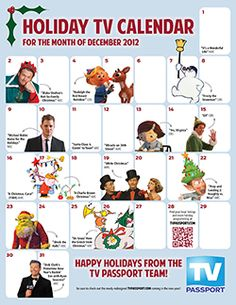 Visit www.tvpassport.com to download your Holiday TV Calendar for December 2012!  Happy Holidays from the TV Passport Team!