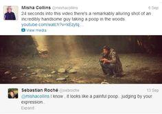 Sebastian Roch`e and Misha Collins