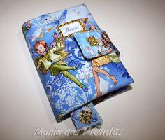 Mania das Prendas: Agenda com capa almofadada- Anjinhos - Personalizada com nome