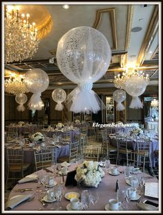 Tulle covered 36inch balloon with confetti inside #tulleballoons