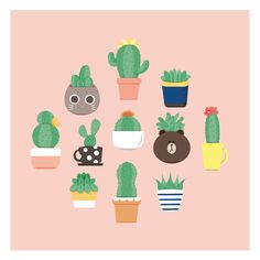 Pots and Cactus on Behance