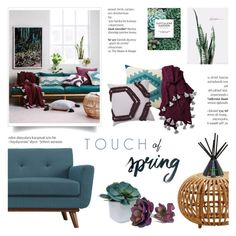 """Touch of Spring"" by c-silla ❤ liked on Polyvore featuring interior, interiors, interior design, home, home decor, interior decorating, Jagger, Ryder, BRIT* and Threshold"