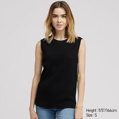 76a8fc1363055 Women waffle sleeveless t-shirt in 2019