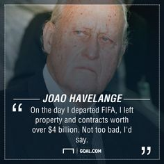 Joao Havelange, who has passed away at the age of 100, was a divisive figure…