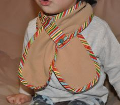Toddler fleece scarf...  great idea.