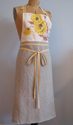 .Add more contrast at bottom. Nice variation of simple apron.